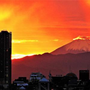 神々しい夕焼け雲