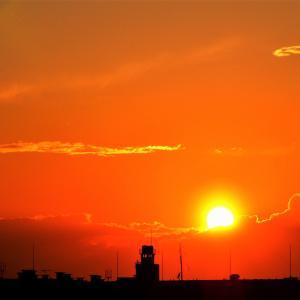 大都会・東京の【落陽】光景