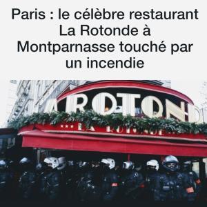 パリの老舗レストラン火災...
