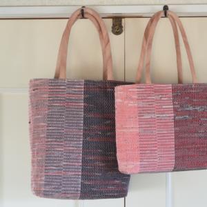また2個 裂き織りバッグ