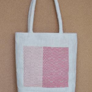 ぜんまい綿毛糸のとんぼ織り額縁型バッグ