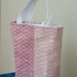 とんぼ織りのミニトートバッグ