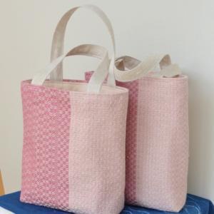 とんぼ織りミニトートバッグさらに2個完成