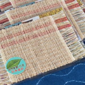 ぜんまい綿毛糸のコースター完成
