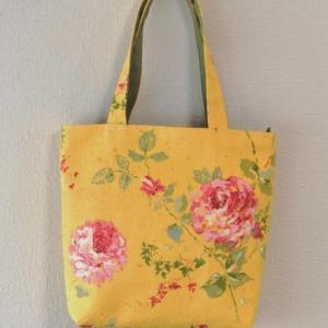 薔薇の花のリフォームバッグ2個
