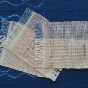 ぜんまい綿毛糸のコースター大サイズできました