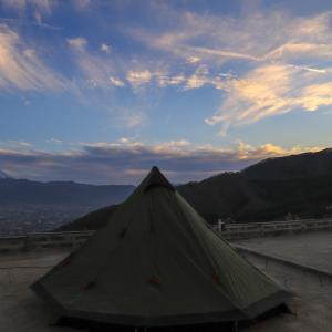 母子で初張り!ほったらかしキャンプ場で絶景キャンプ