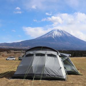 強風ですが、富士山キャンプに来ています!