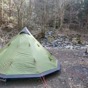 ワイルド!リバーサイドキャンプに来ています!