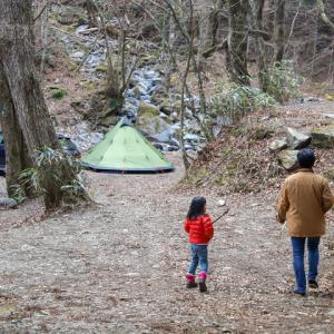 止水なんて気にしない。真冬の道志の森は最高!ワイルドキャンプ!