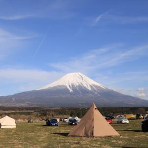 母子で富士山キャンプに来ています