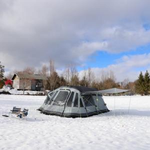 あらま!雪中でマイナス8度キャンプになっちゃってます・・