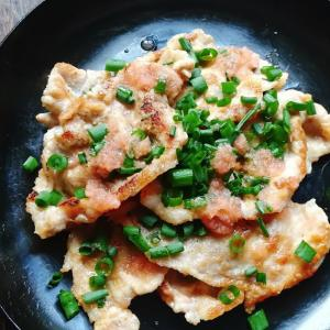 紅ショウガで簡単、豚の紅生姜焼き