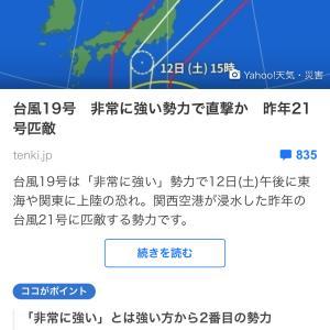 【起立性調節障害】関東出張❶台風よ去れ…(>_<)
