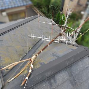 千葉県:鎌ヶ谷市南初富にて、倒壊アンテナ撤去処分~地デジ新設工事