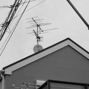 千葉県:船橋市藤原にて、既存アンテナ撤去~地デジ屋根裏&BS壁面工事