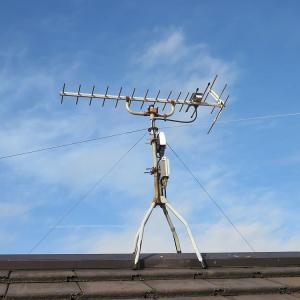千葉県:八千代市八千代台西にて、約10年前施工のアンテナを点検