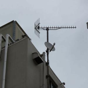 千葉県:松戸市本町にて、BS受信不良点検からBSアンテナ交換へ