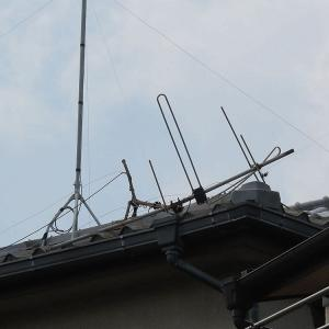 千葉県:船橋市上山町にて、倒壊アナログアンテナ撤去処分