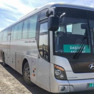 地獄の門から首都アシガバードへ!!ダルヴァサからバスでの行き方!