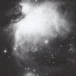 赤鬼山の上のオリオン星座