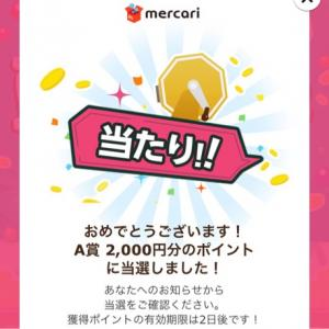 メルカリくじ当選\(^^)/