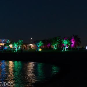 沖縄県那覇市:波の上うみそら公園 ライトアップ