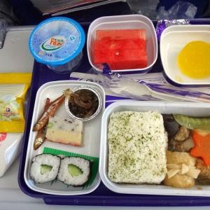 中国・上海近くの出張日記 ①行きの機内食とホテル
