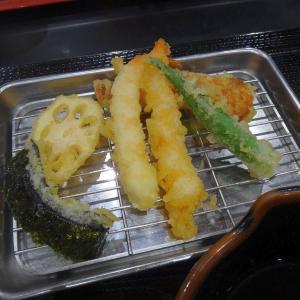 イオン五条の「天ぷら やぐら」さんで天ぷら定食