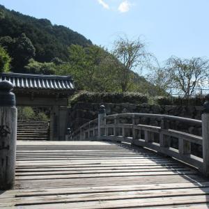 出石城跡(兵庫県豊岡市) ①城跡から城下町を眺めることができます