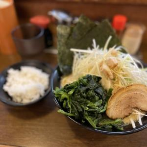 濱虎家@大井町 ネギラーメンにほうれん草増しで体に良い食べ物に