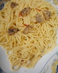 ポンゴレ入りスパゲッティ