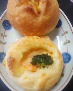 海老ブロッコリー&チーズ入りフランスパン
