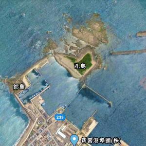 三輪崎漁港の釣り場と釣れるポイント4カ所|鈴島、孔島、堤防、アオリイカ、チヌ、新宮市
