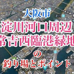 淀川河口周辺・常吉西臨港緑地の釣り場とポイント|駐車場有り、チヌ、シーバス、大阪市