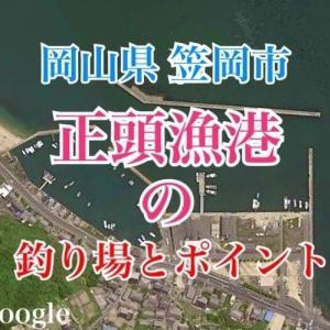 正頭漁港の釣り場とポイント|チヌ、メバル、キス、ハゼが釣れるスポット、笠岡市