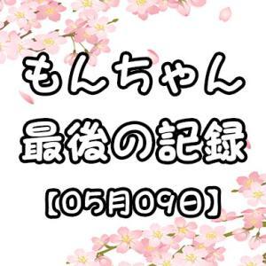 もんちゃん、最後の記録【05月09日】