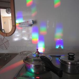 キッチンパネルの虹