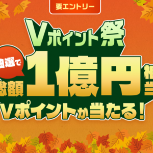 VISAカードでVポイント10万円が当たるキャンペーン中です~エントリー必須です