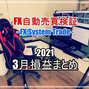 【FX】自動売買EA検証結果 2021年3月損益まとめ