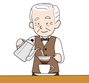 コーヒーが美味い秋/ワンコの画像