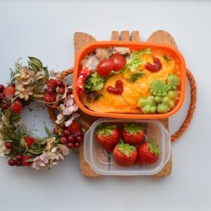 【中学生お弁当・炊飯器でチキンライス!オムライスのお弁当】