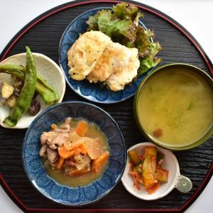 【写真で見る簡単レシピ】衣が高野豆腐のピカタと小鉢3つで夕ごはん