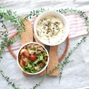 【アスリート弁当】スープも果物もなし。なので夕方に補食を用意します。