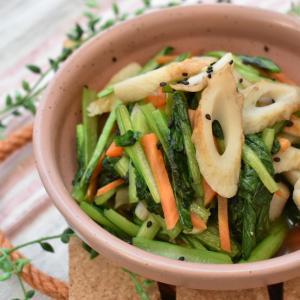 【レシピ】小松菜とちくわで簡単和え物