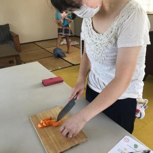 カジュアル和食の第3回目では、切り方マスターを②!!意外と難しい乱切りや面取りのことも^^