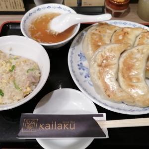 【開楽】Bセット(餃子、半炒飯)東京で食べたかったお店その2
