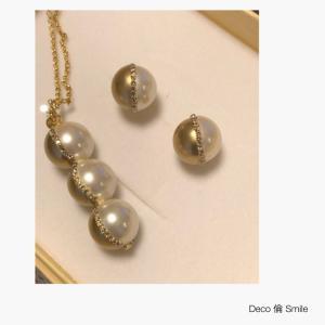 halfpearldesign  necklace &pierced