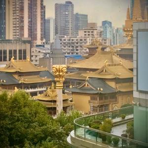 上海。帰路の風景。世界遺産。