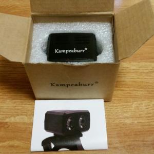 Kampeaburr LED自転車フロントライト USB充電2クリー IPX6防水